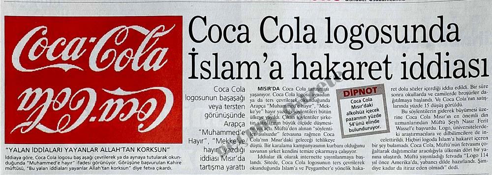 Coca Cola logosundaki İslam'a hakaret iddiası