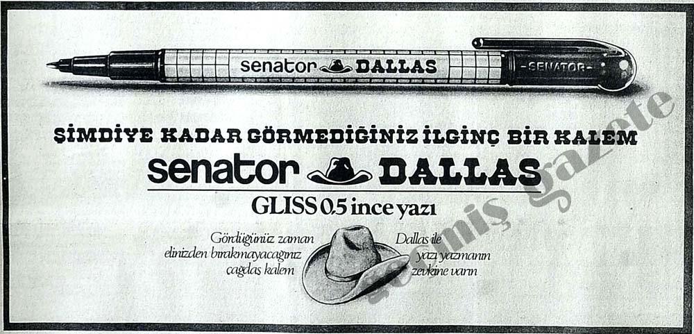 Şimdiye kadar görmediğiniz ilginç bir kalem: Senator Dallas