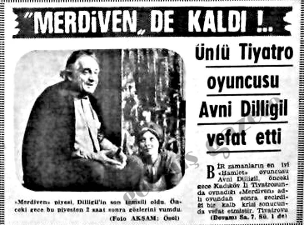 Ünlü Tiyatro oyuncusu Avni Dilligil vefat etti