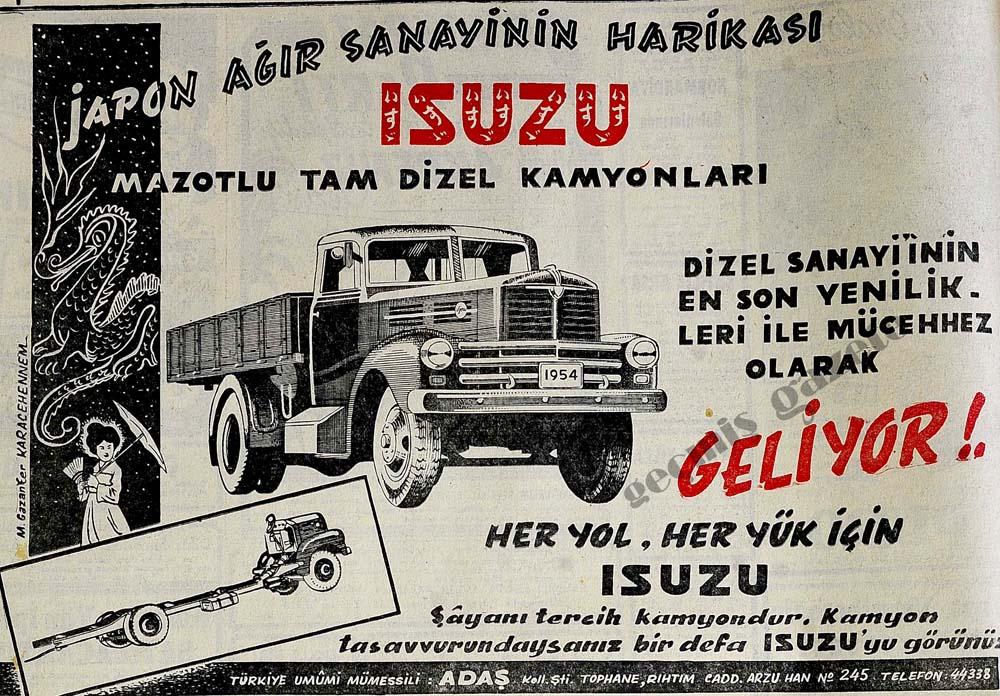 Japon ağır sanayinin harikası ISUZU mazotlu tam dizel kamyonları geliyor!