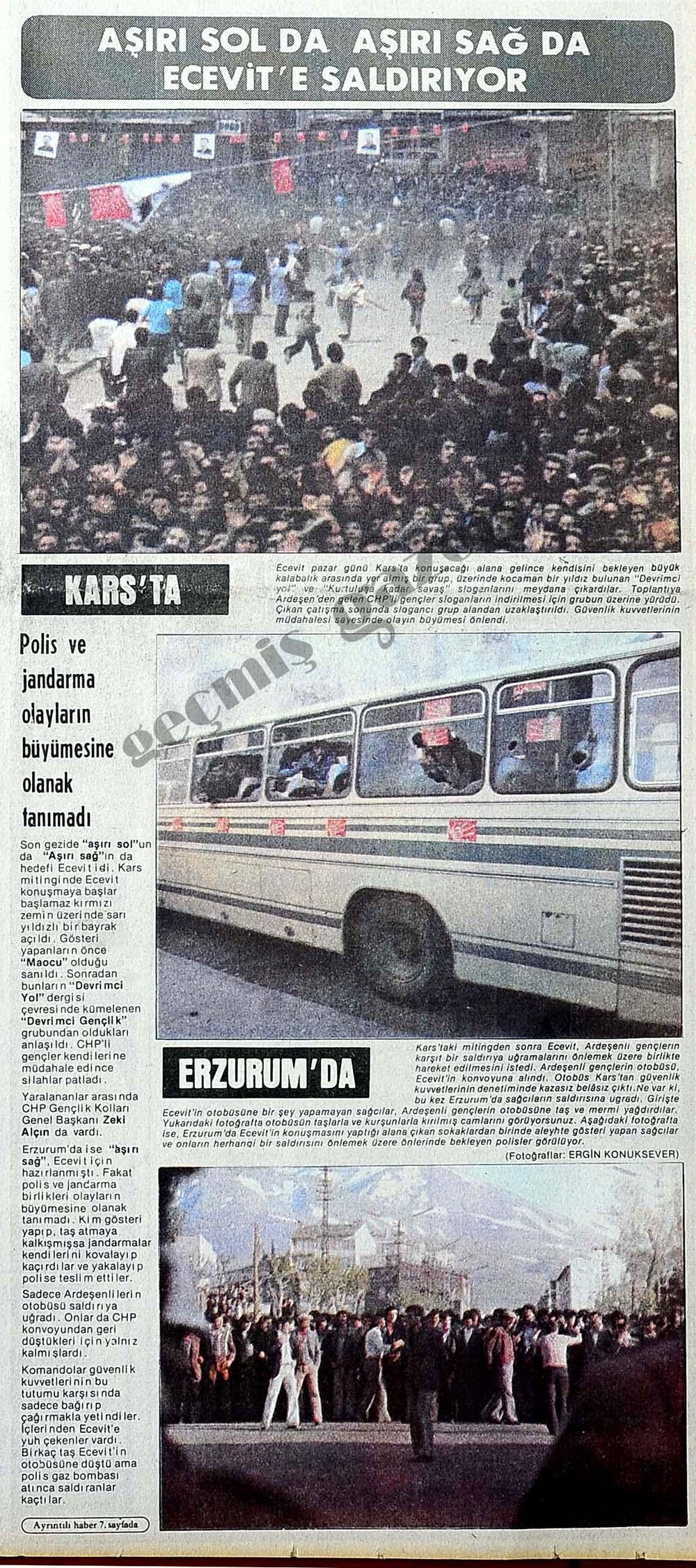 Aşırı Sol da Aşırı Sağ da Ecevit'e saldırıyor