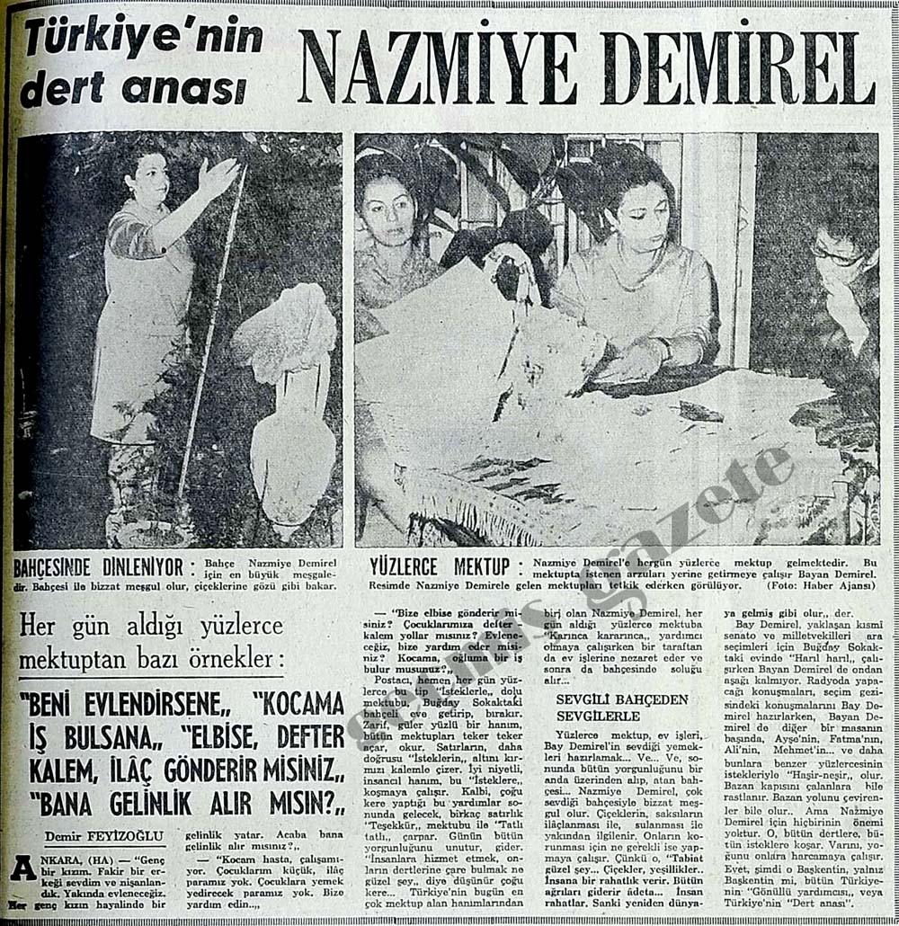 Türkiye'nin dert anası Nazmiye Demirel