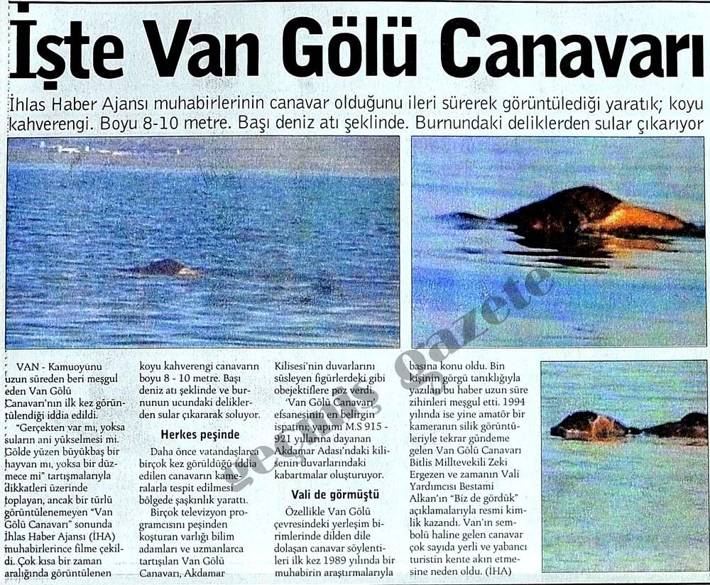 İşte Van Gölü Canavarı