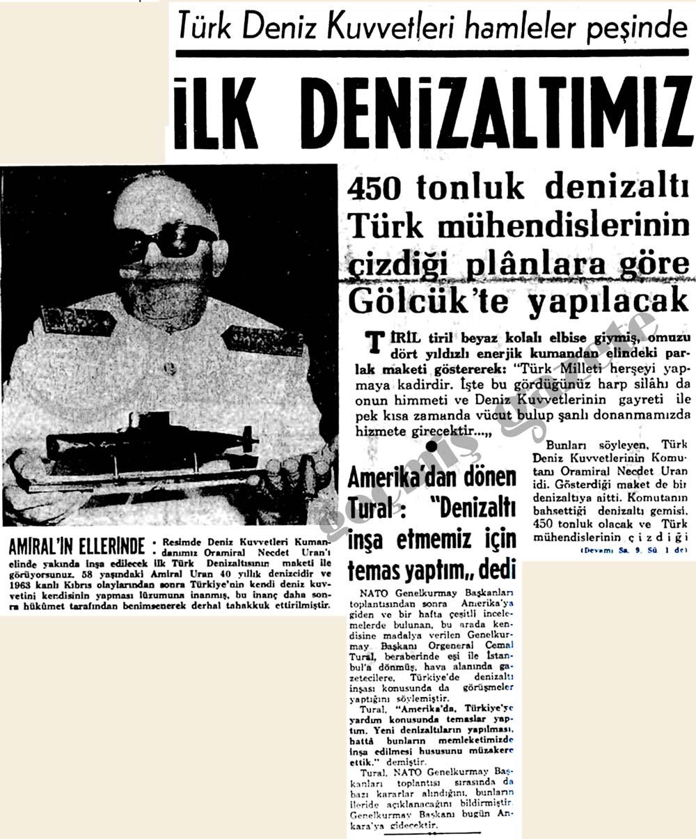 Türk Deniz Kuvvetleri hamleler peşinde: İlk Denizaltımız