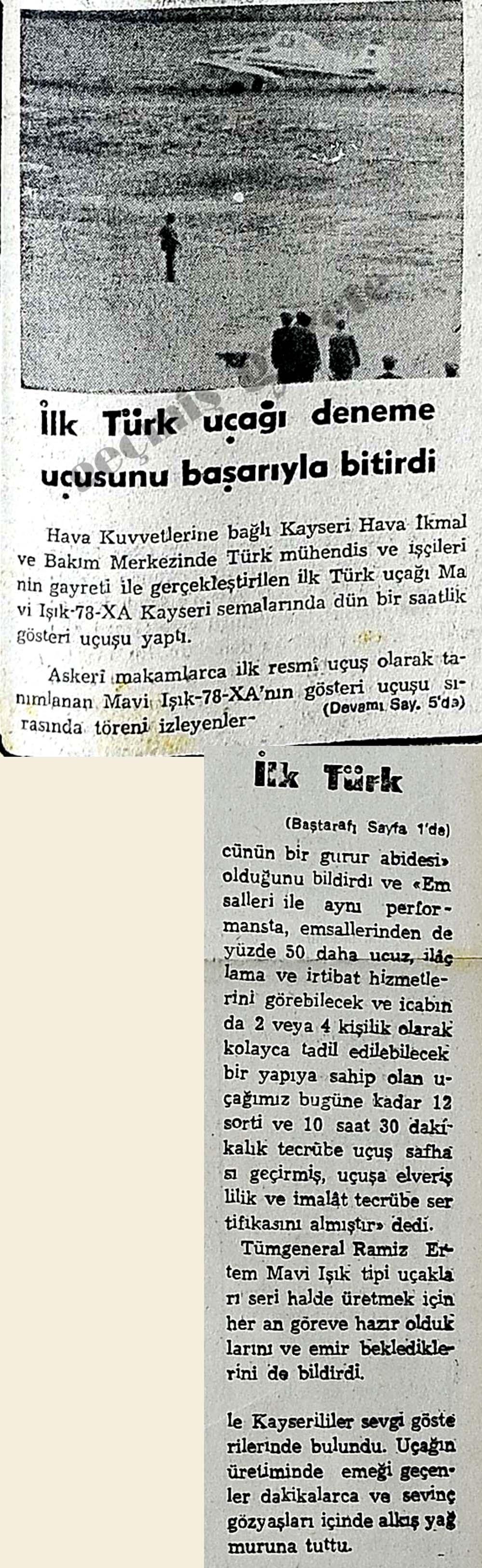 İlk Türk uçağı deneme uçuşunu başarıyla bitirdi