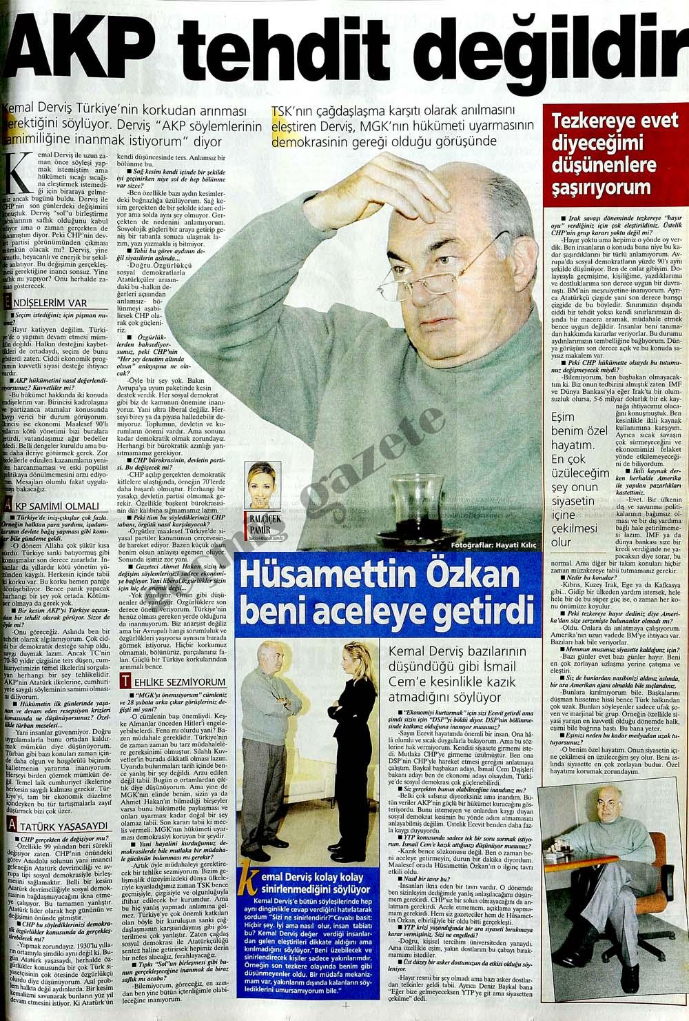 AKP tehdit değildir