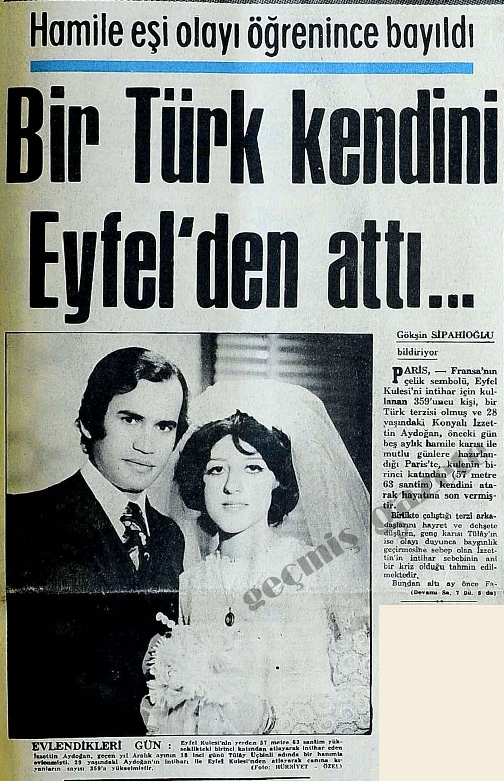 Bir Türk kendini Eyfel'den attı...