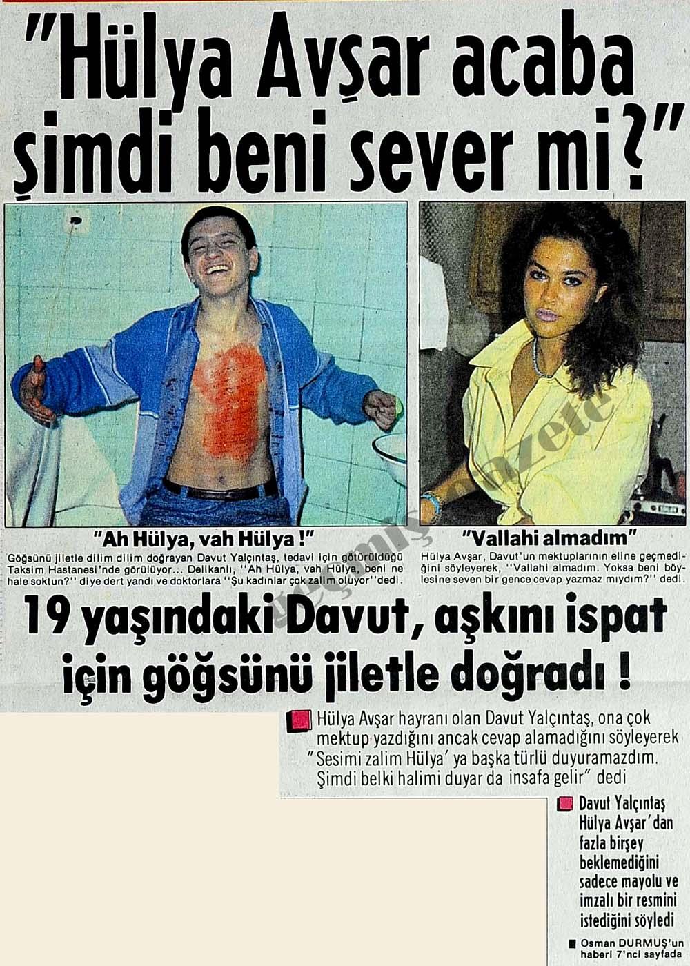 """""""Hülya Avşar acaba şimdi beni sever mi?"""""""
