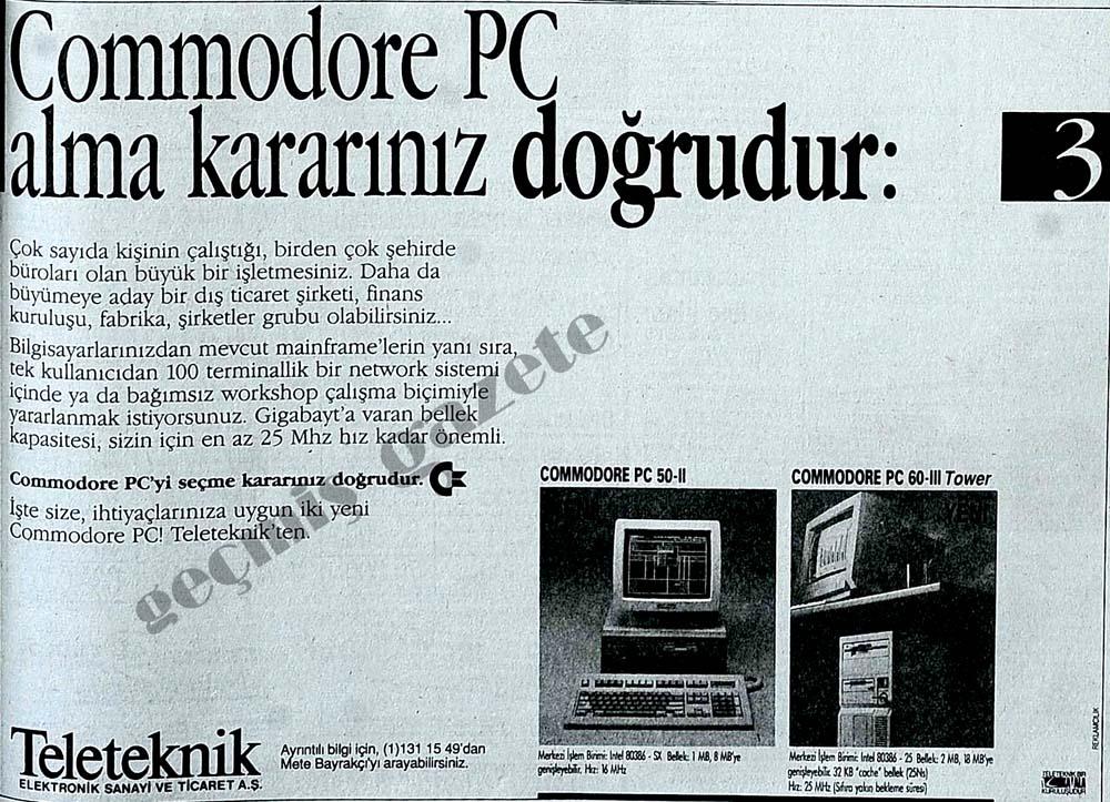 Commodore PC alma kararınız doğrudur