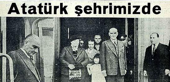 Atatürk şehrimizde