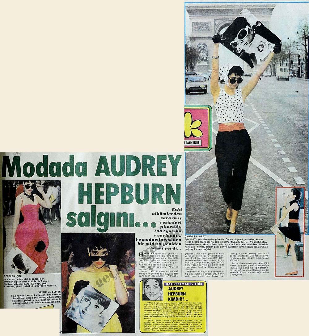 Audrey Hepburn salgını...