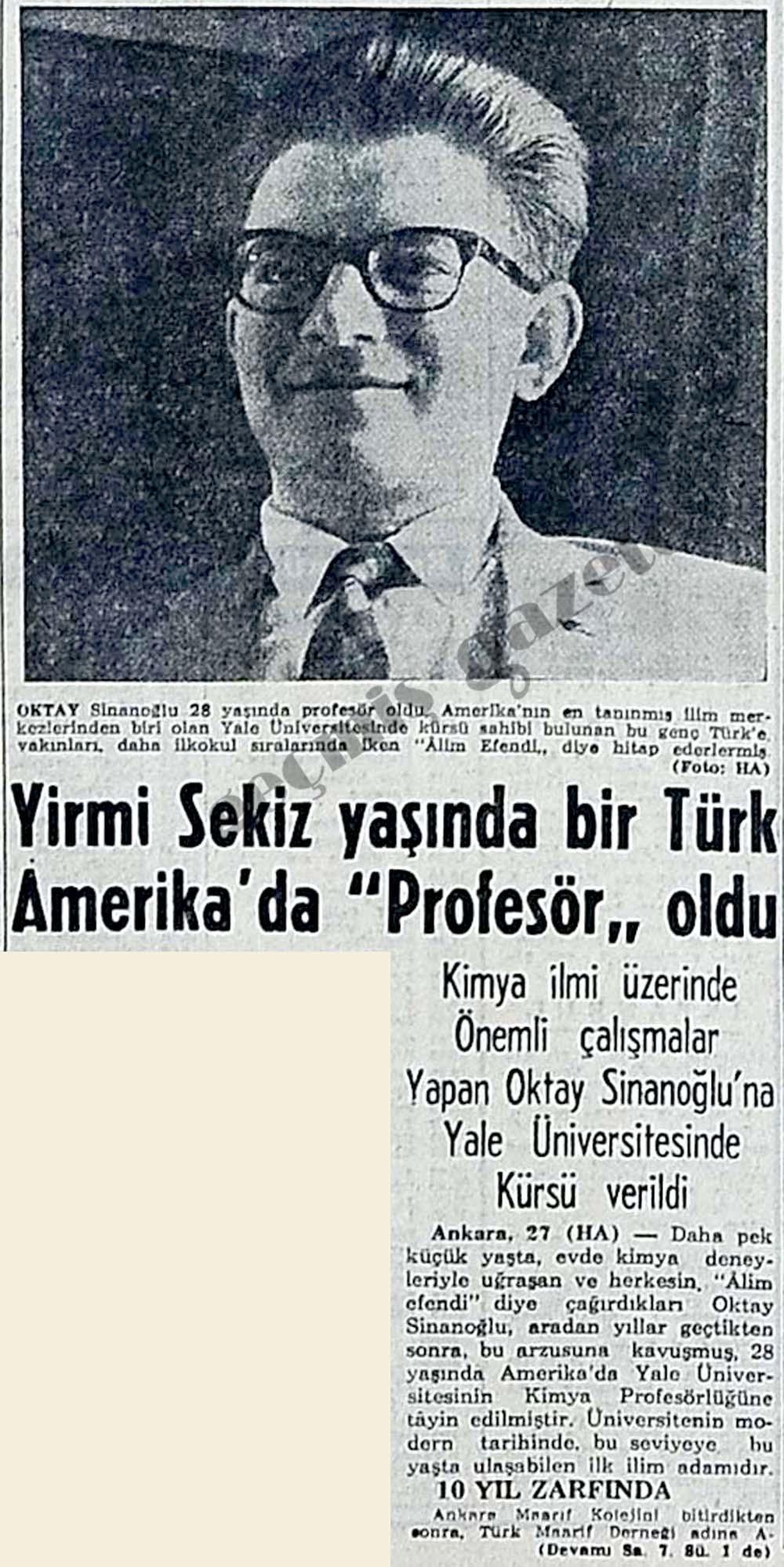 """Yirmi Sekiz yaşında bir Türk Amerika'da """"Profesör"""" oldu"""