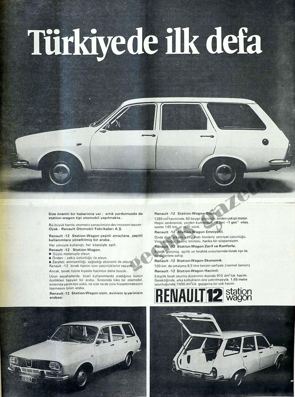 Önemli bir haberimiz var: artık yurdumuzda da station-wagon tipi otomobil yapılmakta..