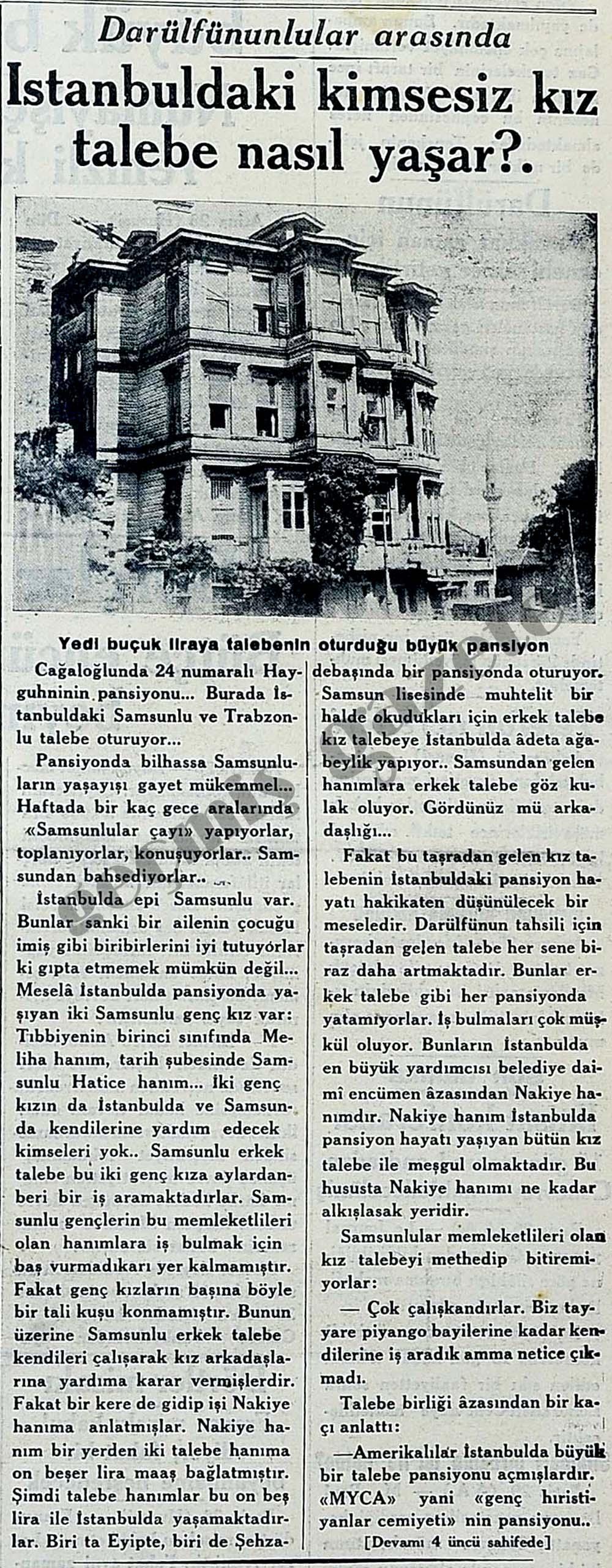 İstanbuldaki kimsesiz kız talebe nasıl yaşar?