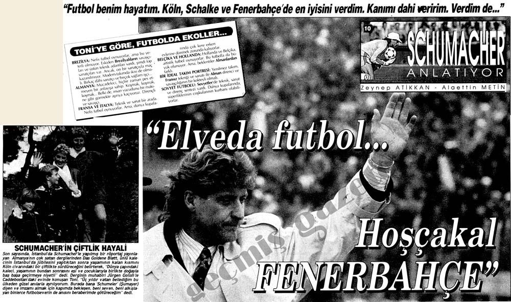 """Elveda futbol...Hoşçakal Fenerbahçe"""