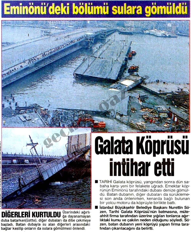 Galata Köprüsü intihar etti