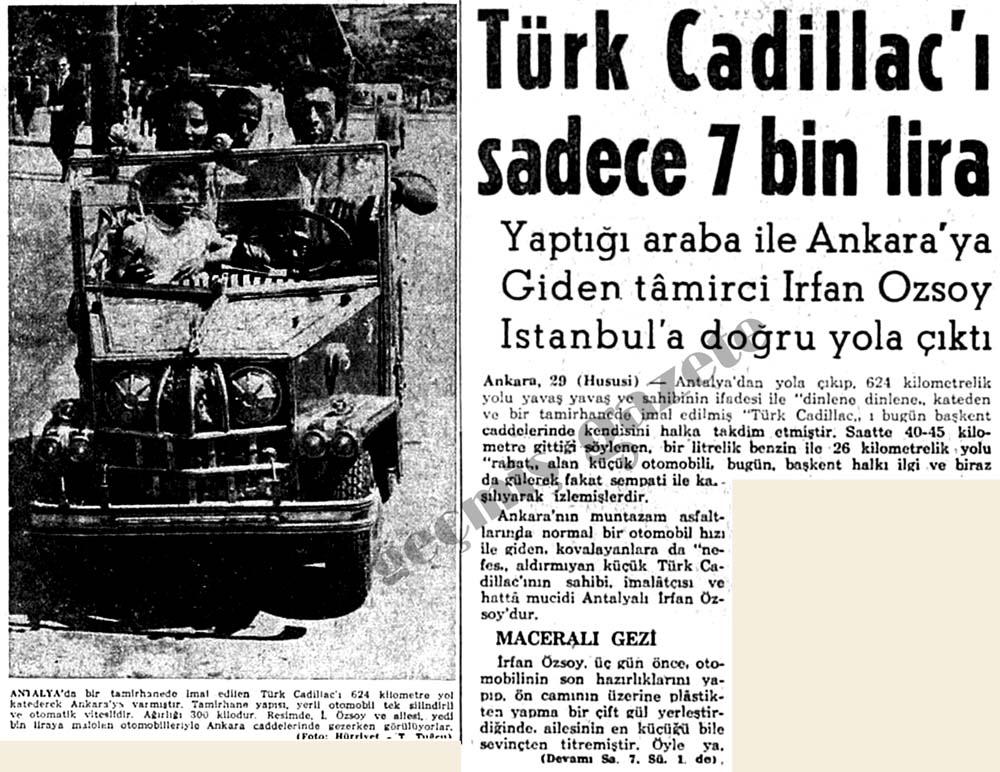 Türk Cadillac'ı sadece 7 bin lira
