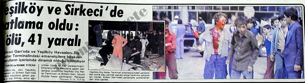 Yeşilköy ve Sirkeci'de patlama oldu: 5 ölü, 41 yaralı