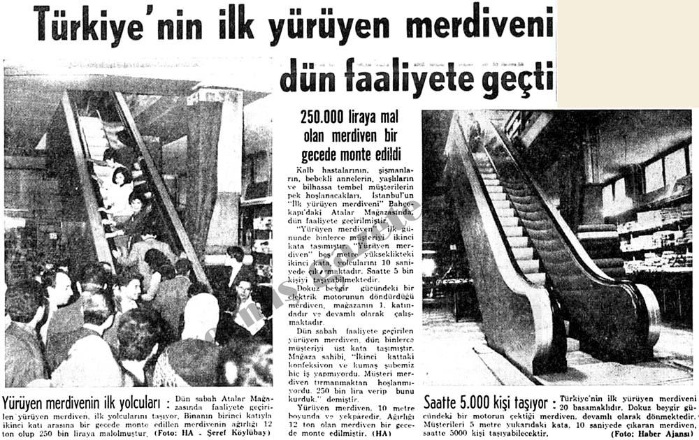 Türkiye'nin ilk yürüyen merdiveni