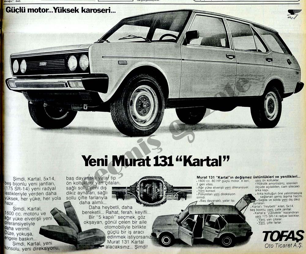 """Güçlü motor...Yüksek karoseri...Yeni Murat 131 """"Kartal"""""""