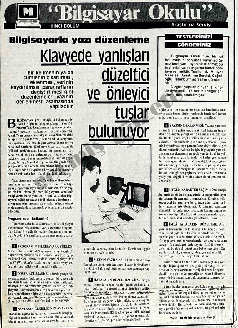 Bilgisayarla yazı düzenleme