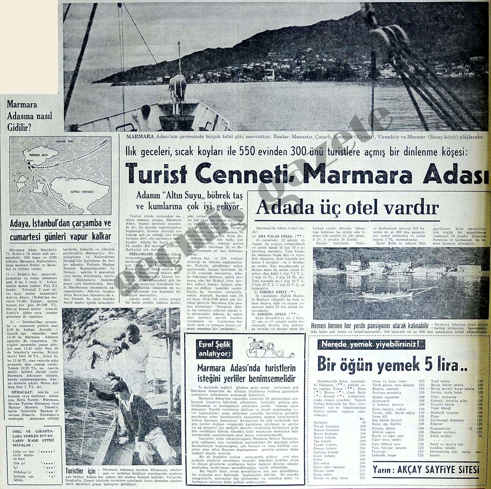 Turist Cenneti, Marmara Adası