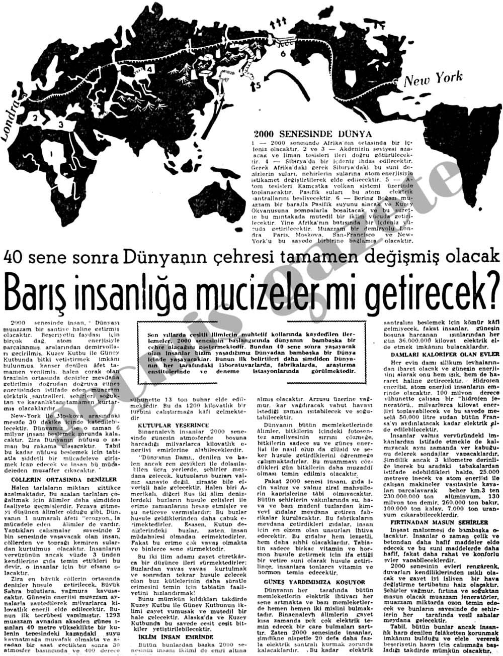 2000 senesinde dünya