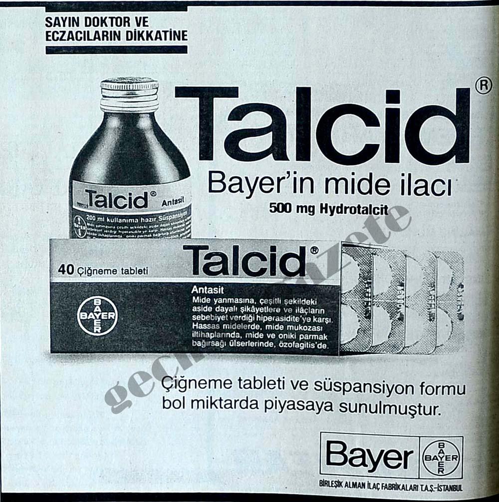 Talcid Bayer'in mide ilacı