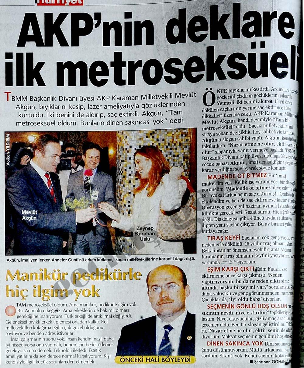 AKP'nin deklare ilk metroseksüeli