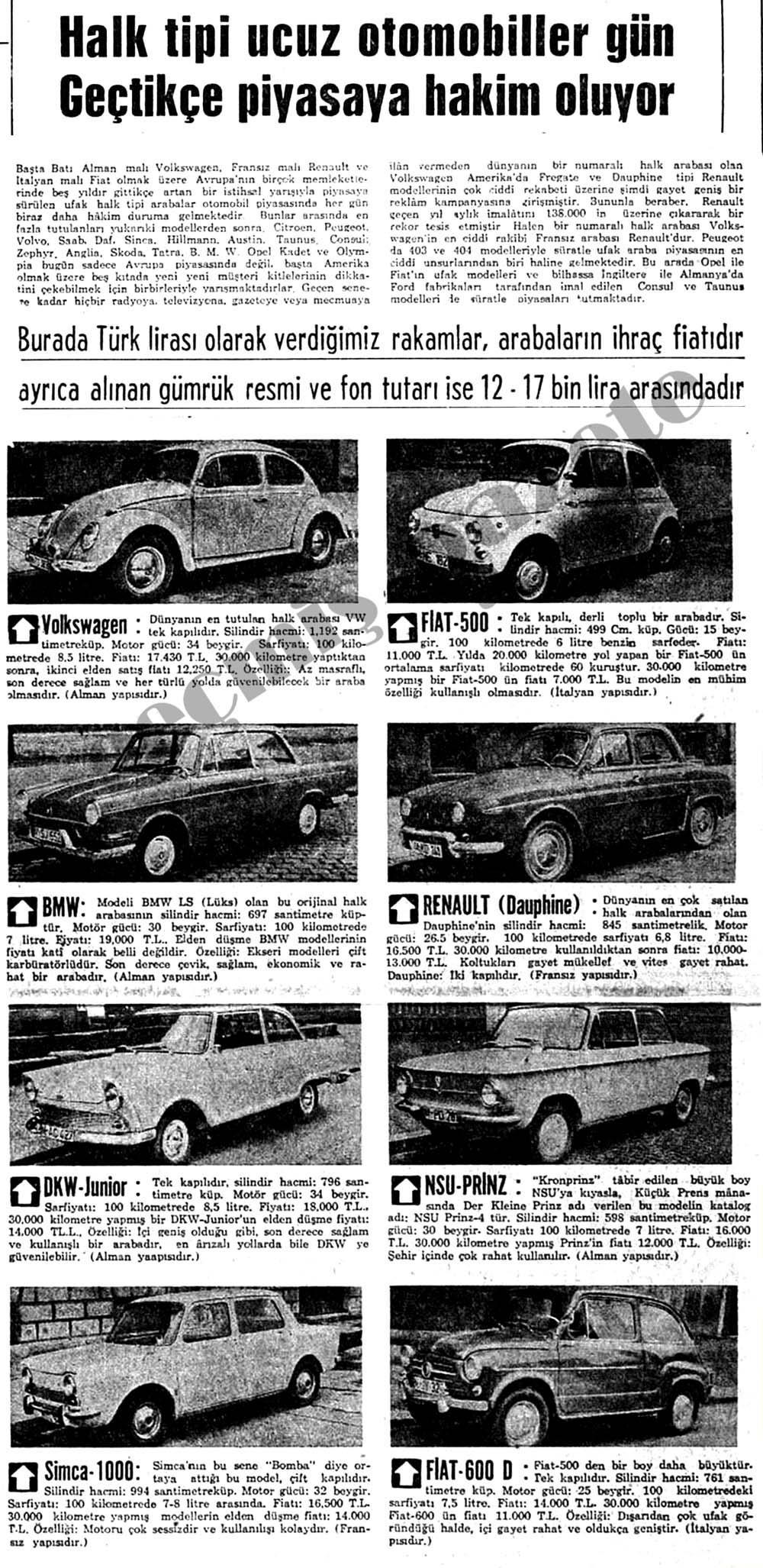 Halk tipi ucuz otomobiller gün geçtikçe piyasaya hakim oluyor