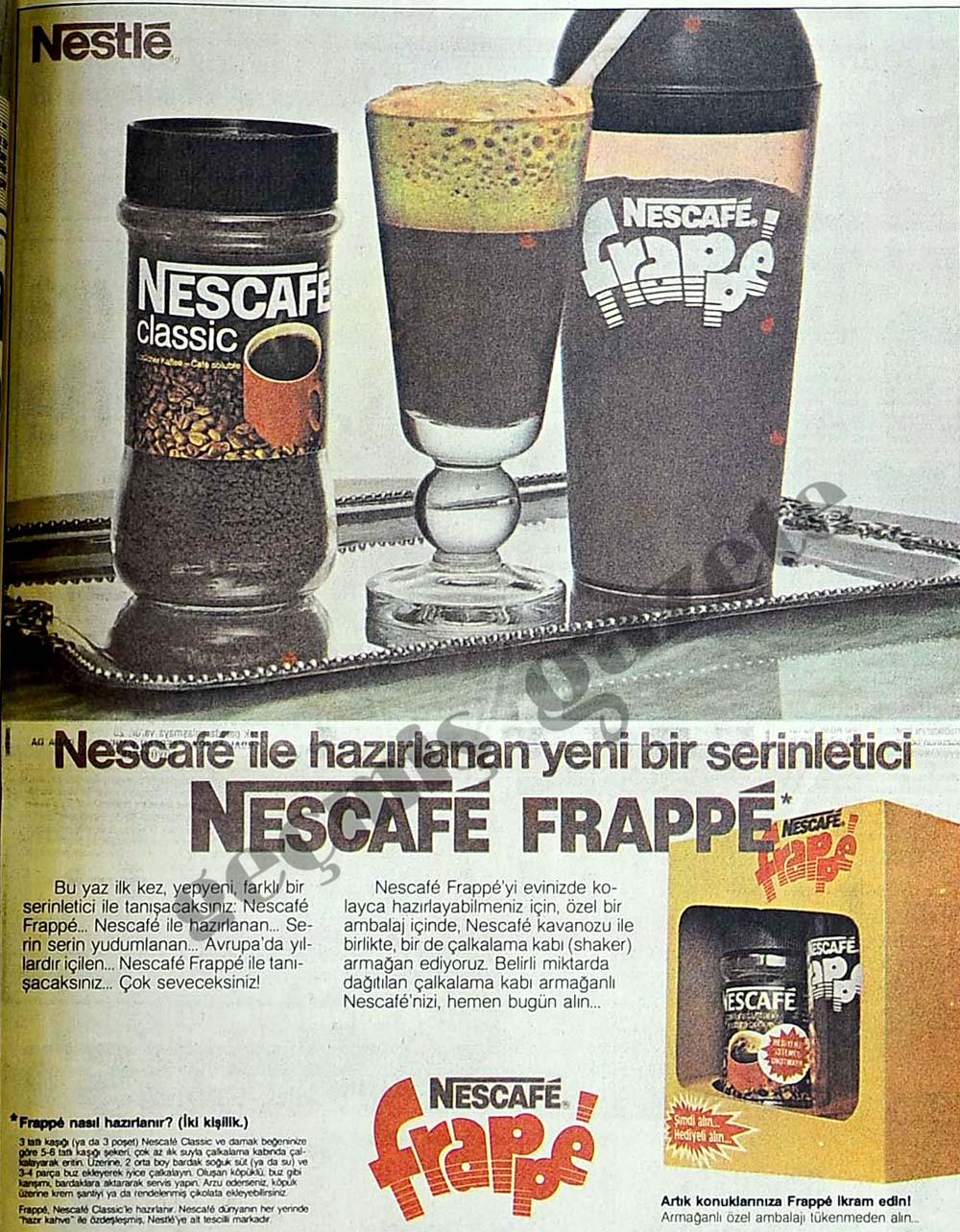 Nescafe ile hazırlanan yeni bir serinletici Nescafe Frappe