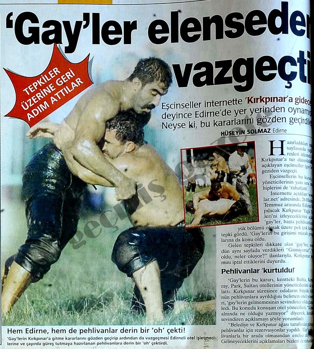 'Gay'ler elenseden vazgeçti
