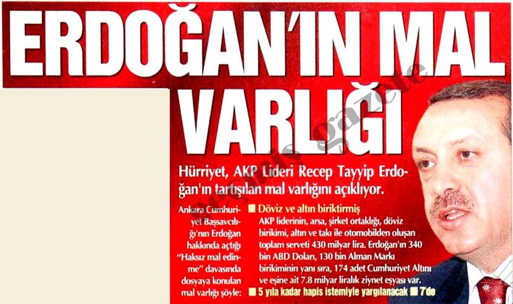 Erdoğan'ın mal varlığı