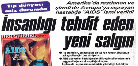 "Hastalığa ""AIDS"" ismi verildi"
