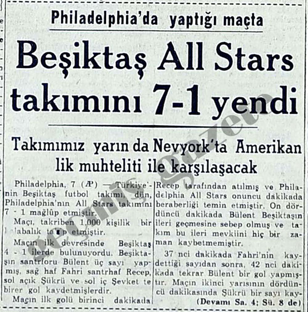 Beşiktaş All Stars takımını 7-1 yendi