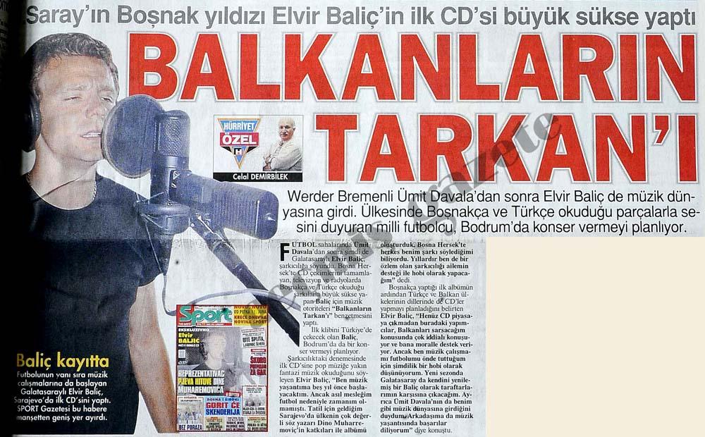 Saray'ın Boşnak yıldızı Elvir Baliç'in ilk CD'si büyük sükse yaptı