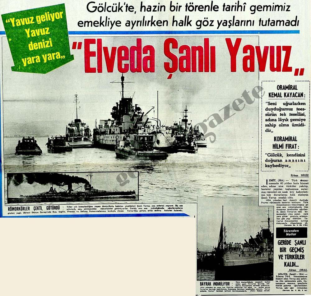 """""""Elveda Şanlı Yavuz"""""""