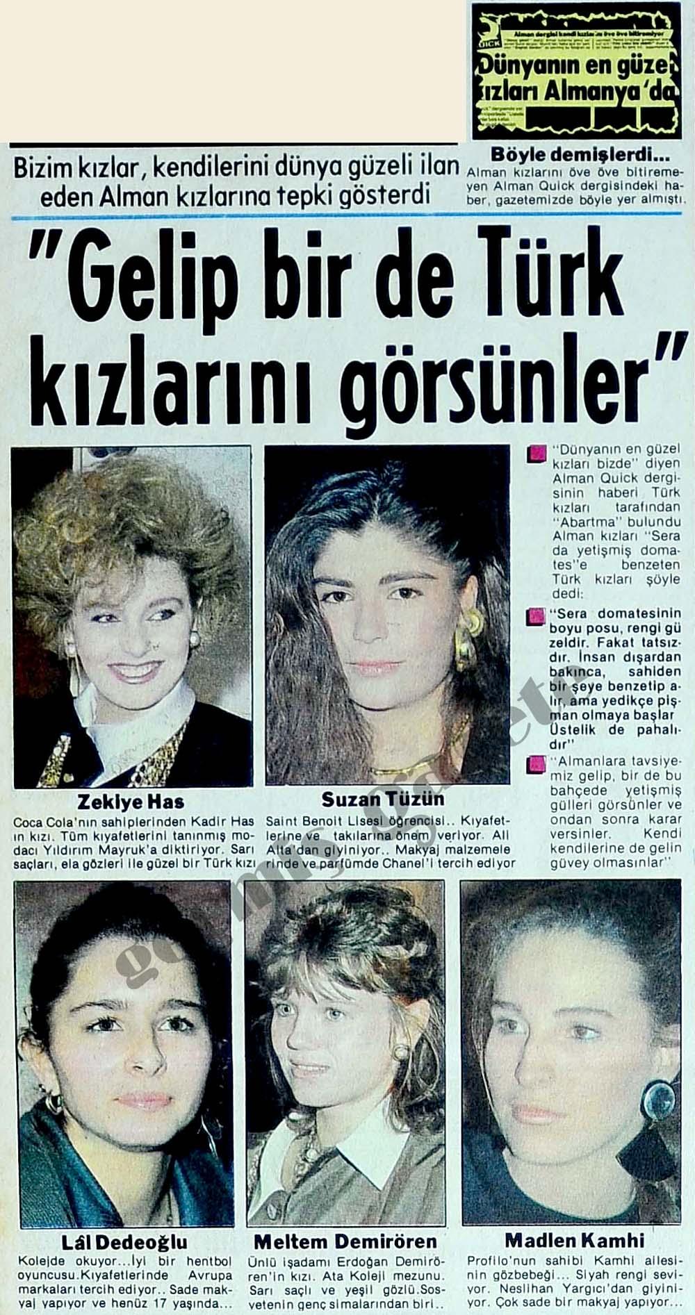 Türk kızlarını görsünler