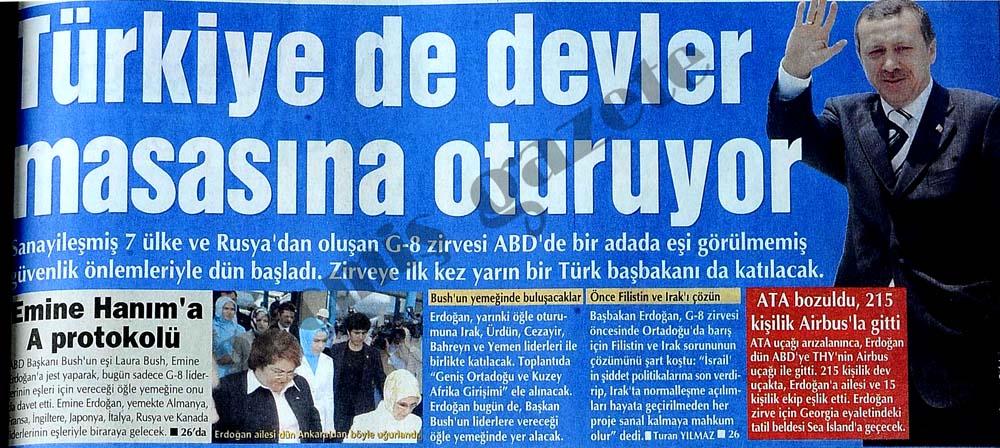 Türkiye de devler masasına oturuyor