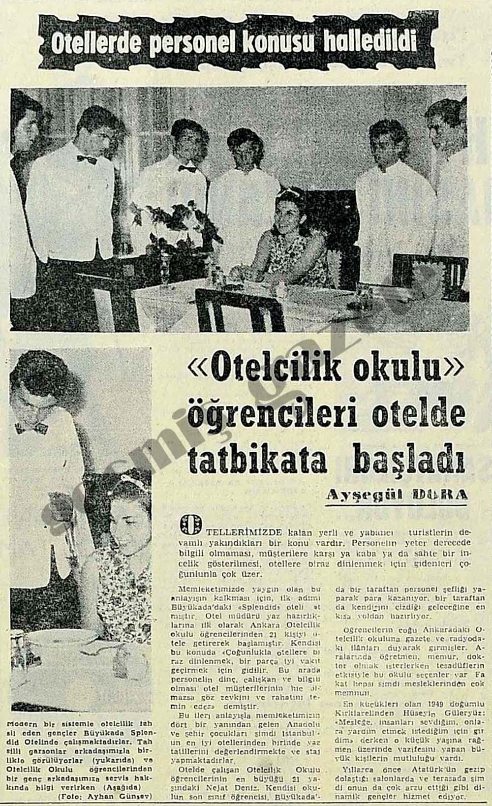"""""""Otelcilik okulu"""" öğrencileri otelde tatbikata başladı"""