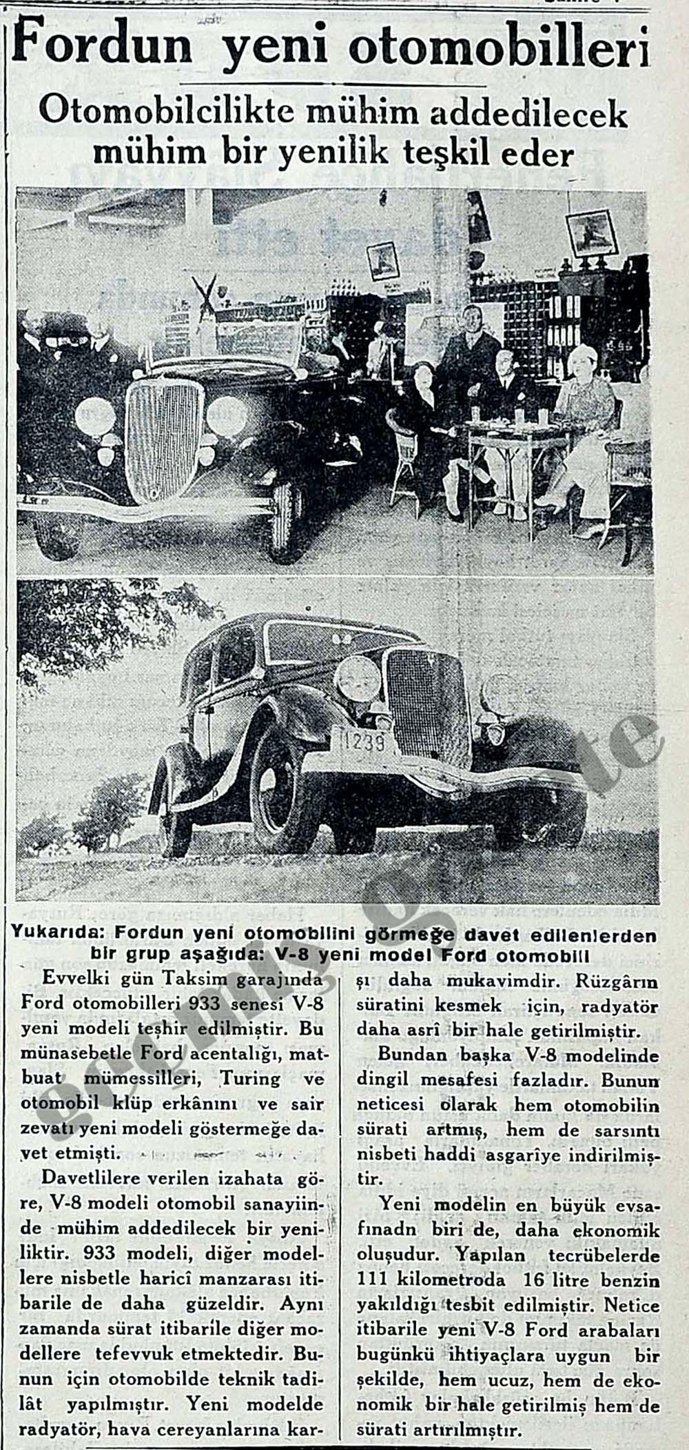 Fordun yeni otomobilleri