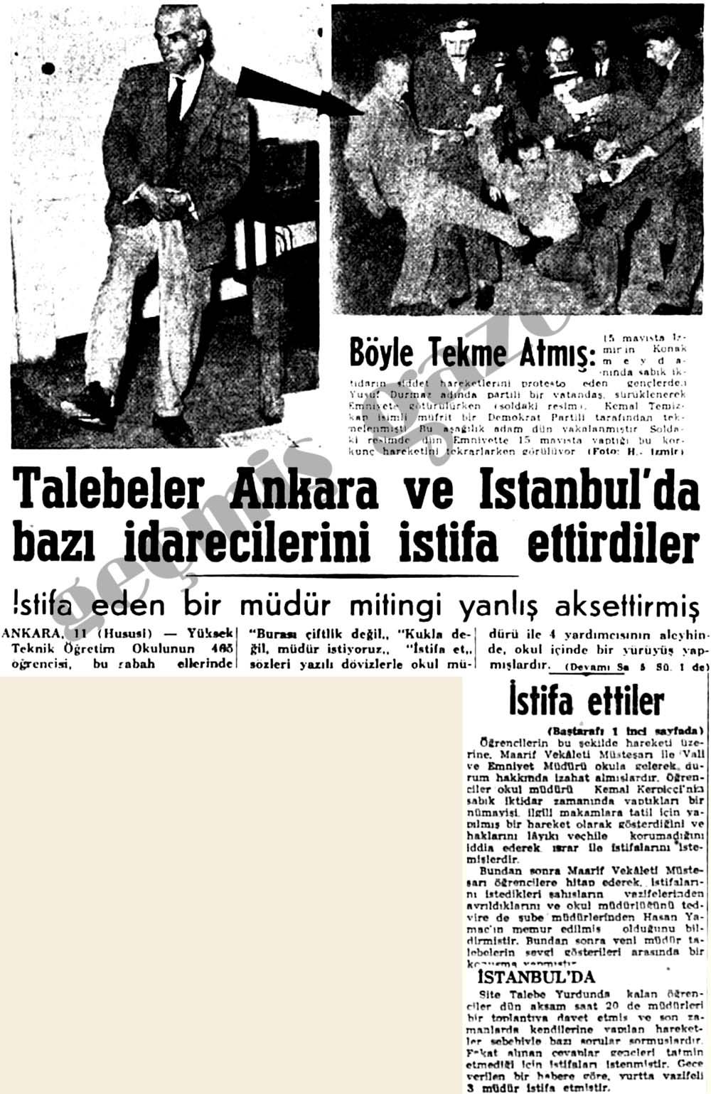 Talebeler Ankara ve İstanbul'da bazı idarecilerini istifa ettirdiler