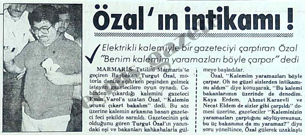Özal'ın intikamı!