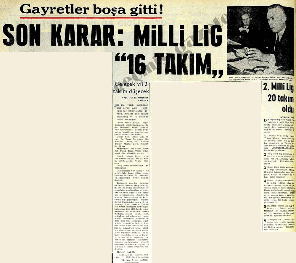 "Milli Lig ""16 Takım"""