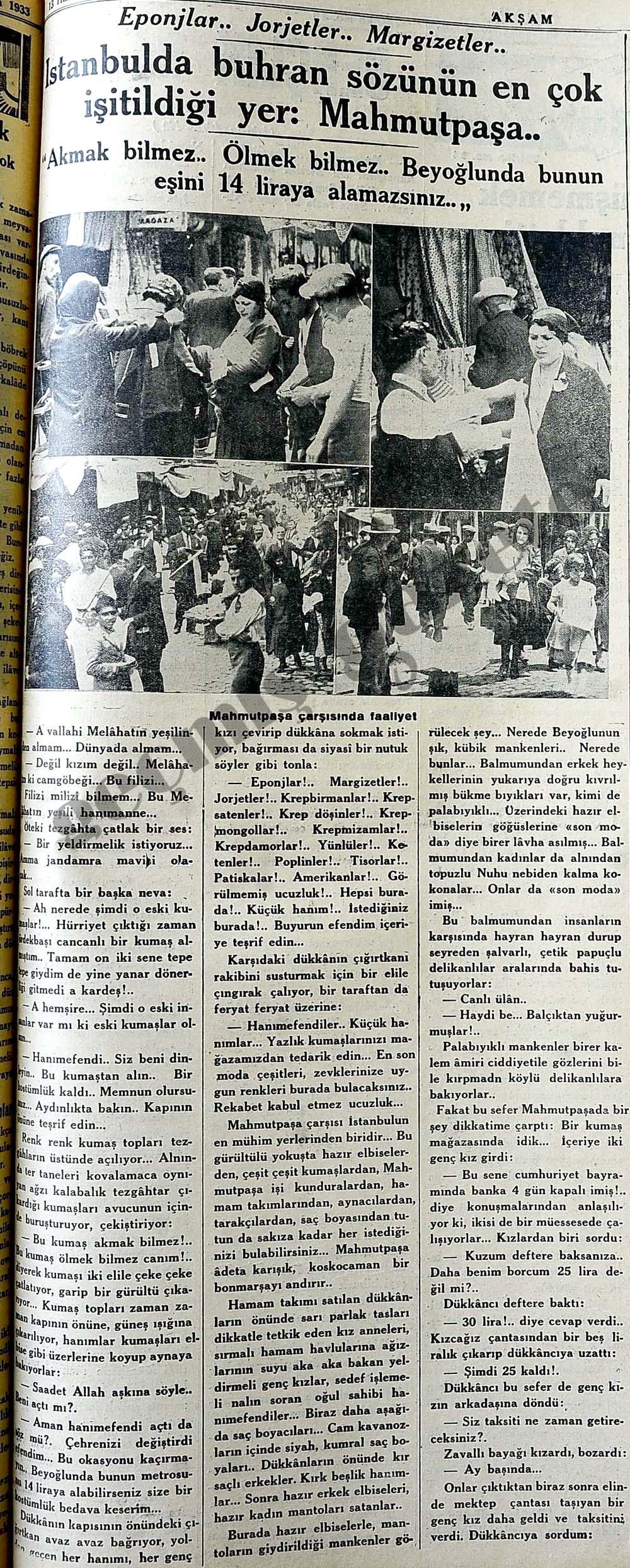 İstanbulda buhran sözünün en çok işitildiği yer: Mahmutpaşa..