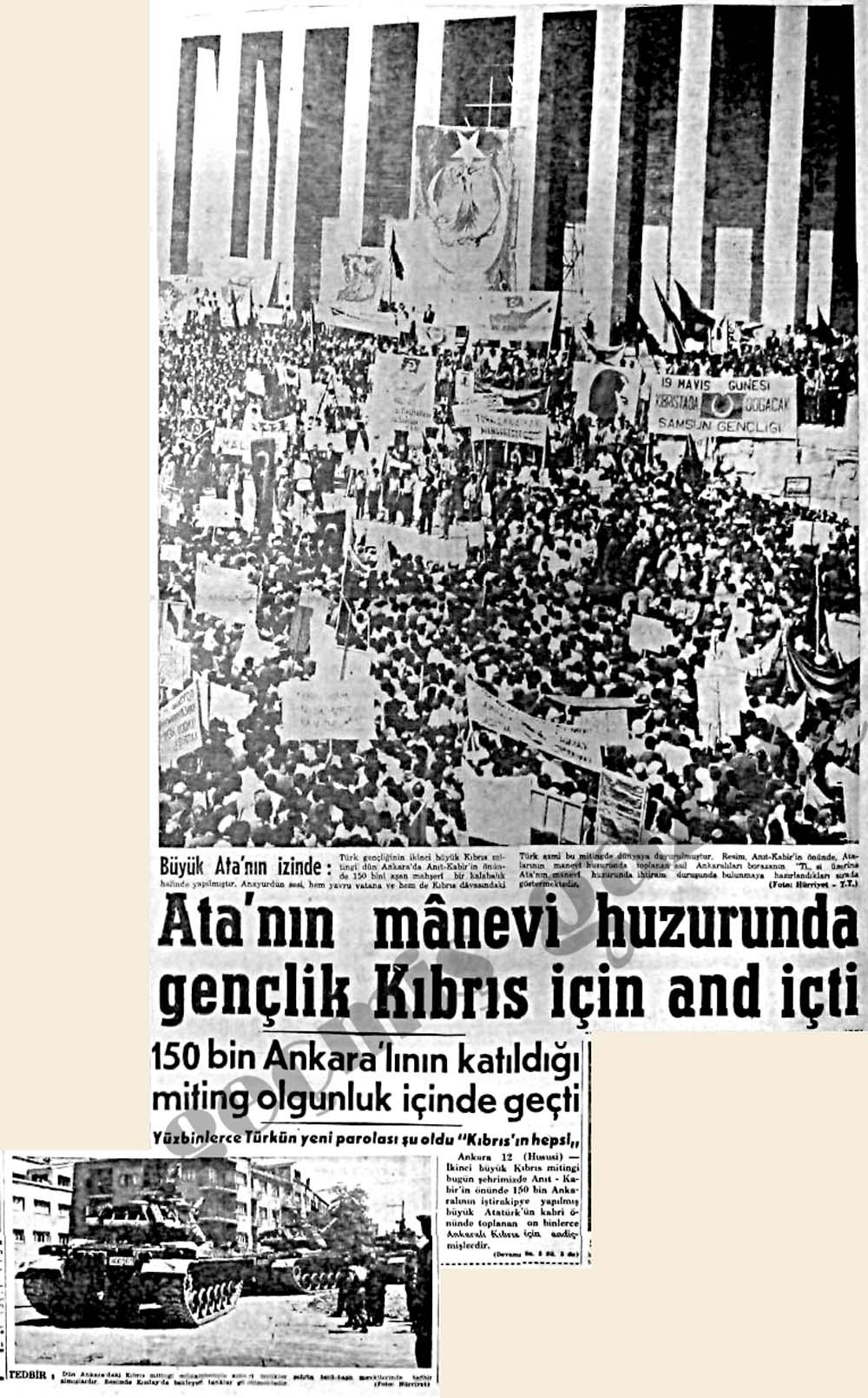 Ata'nın manevi huzurunda gençlik Kıbrıs için and içti