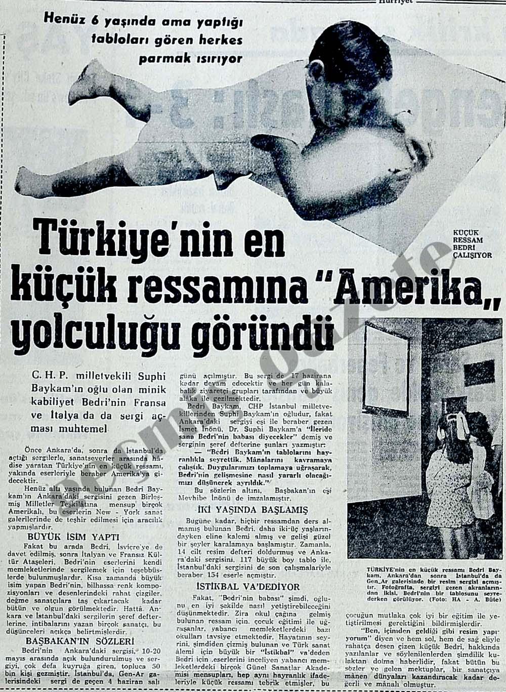 """Türkiye'nin en küçük ressamına """"Amerika"""" yolculuğu göründü"""