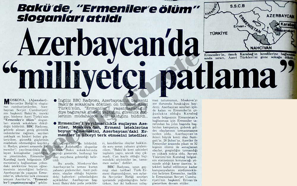 """Azerbaycan'da """"milliyetçi patlama"""""""