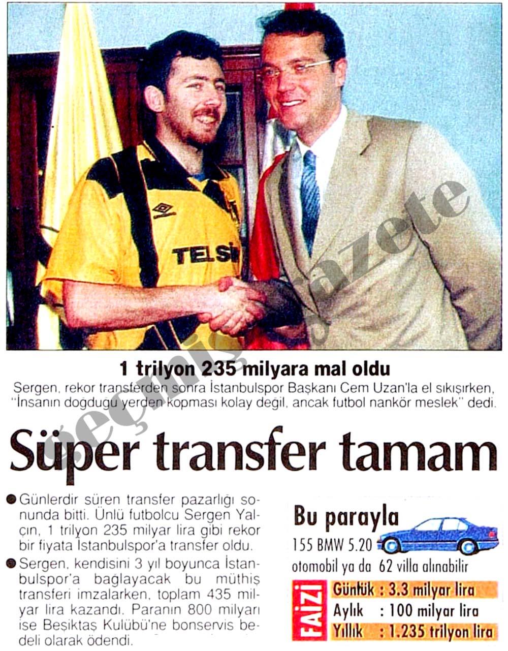 Süper transfer tamam