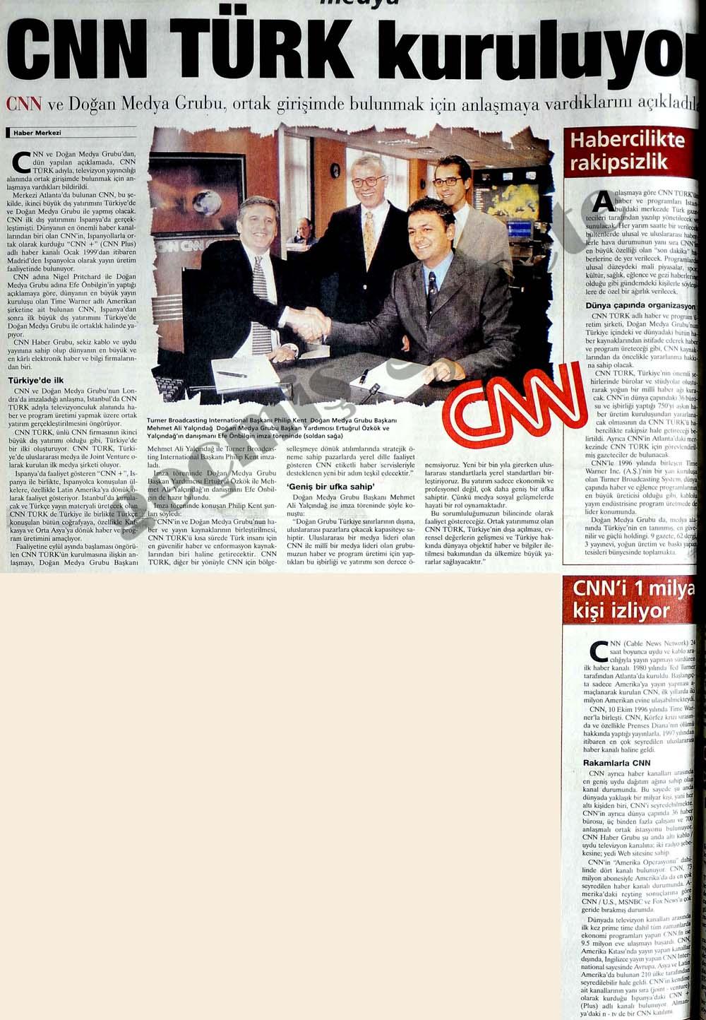 CNN TÜRK kuruluyor